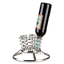 Premier Housewares Swirl 6-Bottles Wine Rack - Chrome