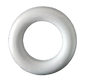 Italveneta Didattica 9063-Juego 17Coronas llenos de poliestireno diámetro 125mm Anillo para decoración Blanco