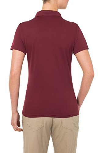 Vaude Marwick Polo Femme Rouge - Claret Red