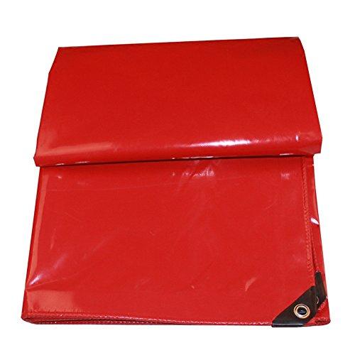 Bâches Duo Couverture Rouge résistante de de Polyester imperméable à l'eau, résistante UV, de pourriture, de déchirure et de Larme épaisse avec des Oeillets et des Bords renforcés 650g
