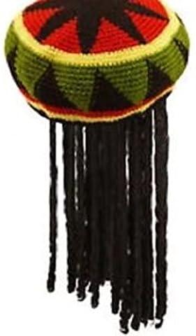Rasta adulte Chapeau jamaïcaine Bob Marley en tricot Cap perruque Dread Locks Caraïbes [Fancy Chapeau jamaïcaine, une taille compatible avec la plupart des] - - taille unique