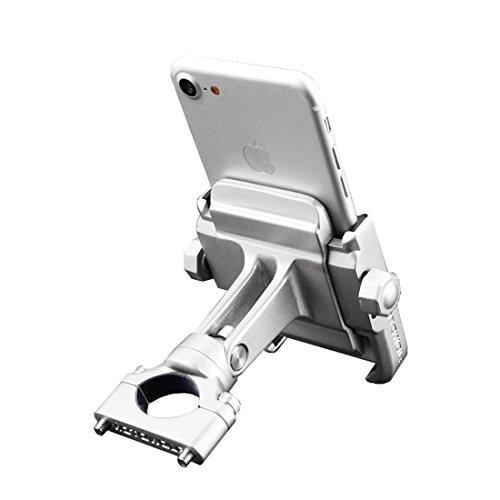 Kenove Soporte Del TeléFono MóVil De La AleacióN De Aluminio Ajustable Soporte Para El TeléFono De Bicicleta RotacióN De 360 Grados