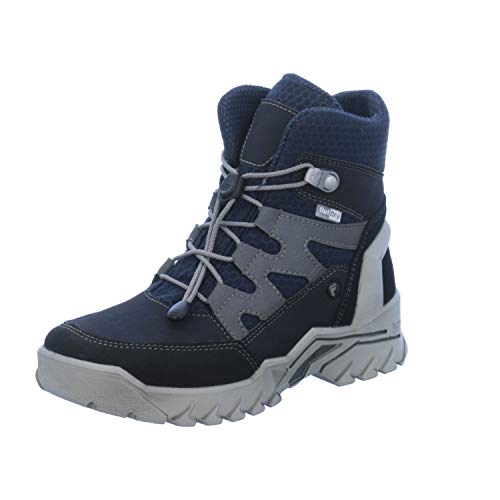 RICOSTA Jungen Winterstiefel KULM 9631300,Kinder Winter-Boots,Fellboots,Fellstiefel,gefüttert,warm,wasserdicht,Weite Weit,See/Ozean, EU 38