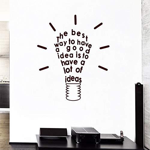 Lámpara 3D de la idea cita Etiqueta de la pared Etiqueta para el Hogar Decoración Niños Aula Etiqueta Decoración Salón Dormitorio Accesorios Diy decoración del hogar 58CMX97CM