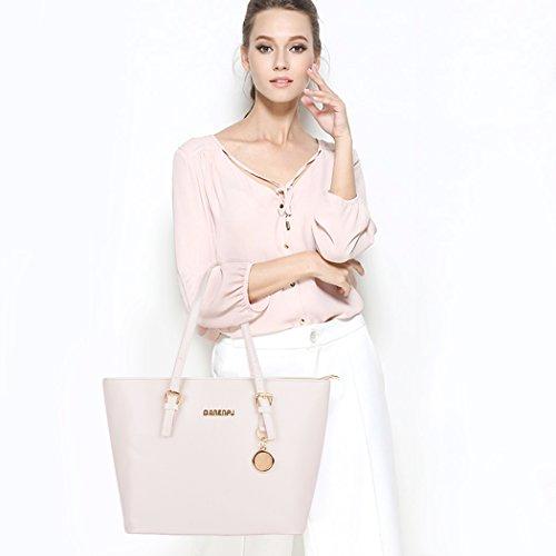 Imagen de coofit 3 en 1 bolso de mujer, cross body bag y monedero, hecho de cuero, bolso  para mujer 3 pcs set bolsos de mano bolsos fiestabolsos bandolera style 2  alternativa