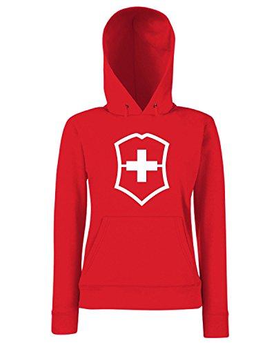 T-Shirtshock - Sweats a capuche Femme TM0413 SwissArmy militari Rouge