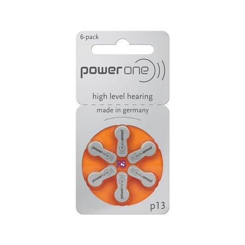 30 Hörgerätebatterien Power One Typ p13