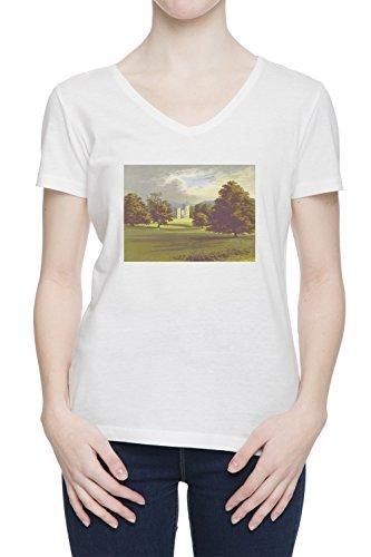 castello-forbes-donna-bianco-v-collo-t-shirt-tutte-le-taglie-womens-white-v-neck-t-shirt-top