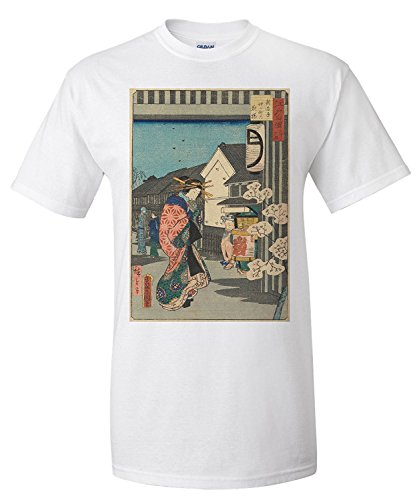 evening-cherry-blossoms-masterpiece-classic-artist-utagawa-hiroshige-ii-c-1864-premium-t-shirt