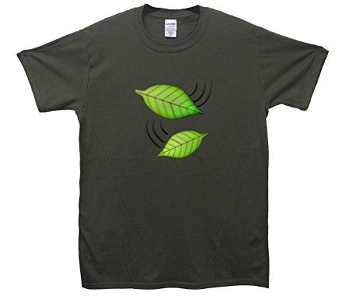 Grün Leaves Emoji T-Shirt Khaki