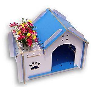 CY Zwinger Herbst und Winter Chihuahua Bomei Teddy Hundehaus Haus Villa Holz Haustier Hund Kleinen Hund,B