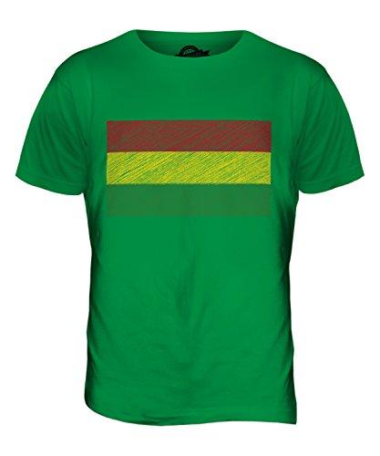 CandyMix Bolivien Kritzelte Flagge Herren T Shirt Grün