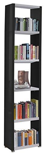 Regalsystem Raumteiler Bücherregal Standregal READY 51 Schwarz Weiß 50 x 232 ...