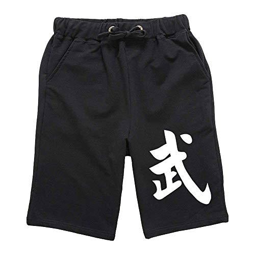 ZooBoo Martial Arts Harem-Shorts - Kung Fu, Chinesische Bloomer Hose, Kleidung für Frauen und Herren - Baumwolle - Schwarz - XX-Large -