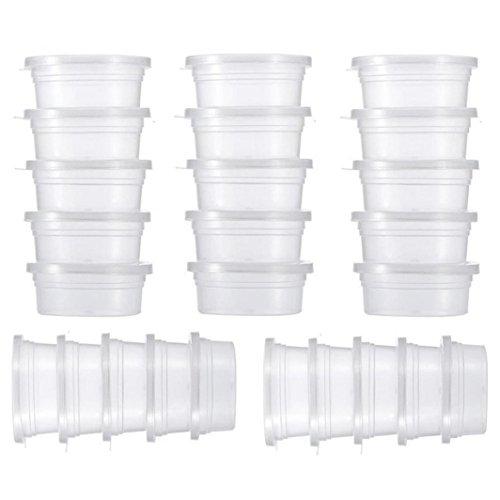 Vorratsbecher Behälter 25 Pc Slime Vorratsbehälter Schaumball Vorratsbecher Behälter mit Deckel