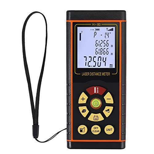 Proster Distanziometro Laser Digitale Misuratore Distanza Telemetro con Livella a Bolla e LCD Retroilluminato Fino a 80M / 0.16 a 262ft