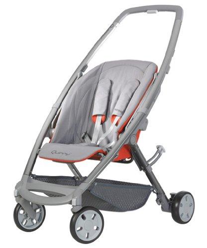 Quinny 72602640 - Senzz, Praktisches Travelsystem inklusive Einkaufskorb, Sonnenverdeck, Regenverdeck und Adapter für die Babyschale, Flame