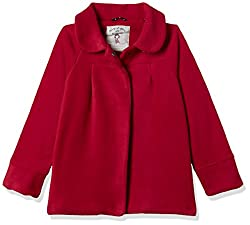 Mothercare Girls Cape Regular Fit Jacket (MF222-1_Red_4-5 Y)