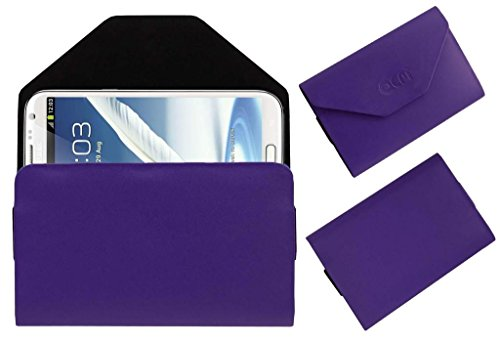 Acm Premium Pouch Case For Samsung Galaxy Note 2 N7100 Flip Flap Cover Holder Purple  available at amazon for Rs.329