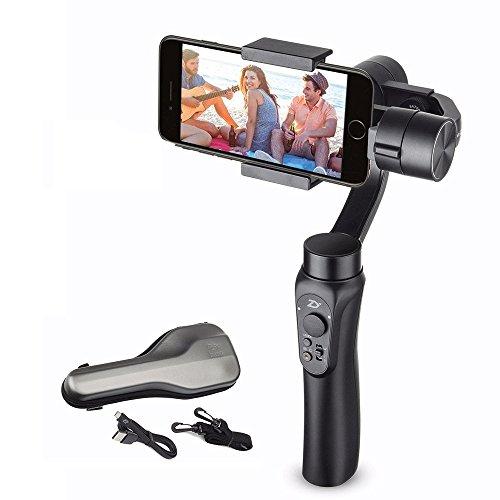 Zhiyun Smooth-Q 3-Achsen Hand-Kardan-Stabilisator für Smartphone 3.5inch bis 6inch in Dimension für IPhone 7 Plus 6 Plus Samsung Galaxy S7 S6 S5 Wireless Control Vertikale Aufnahme Panorama-Modus Iphone 6 Plus Bereich