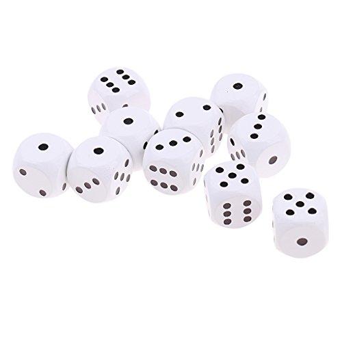 D dolity 10 pezzi dadi 6 lati d6 20mm per giochi di ruolo rpg - bianca