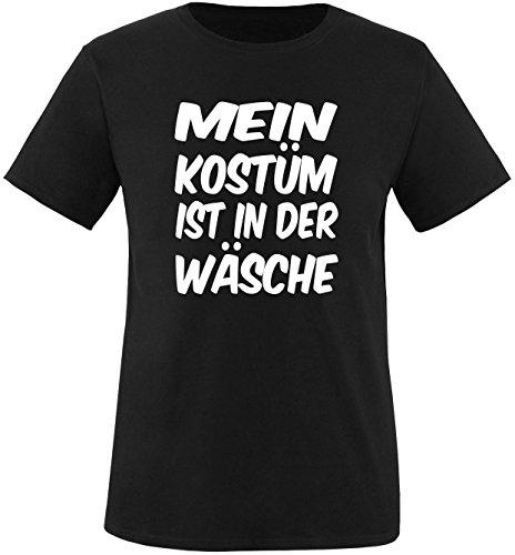 Luckja Mein Kostüm ist in der Wäsche Herren Rundhals T-Shirt Schwarz/Weiß