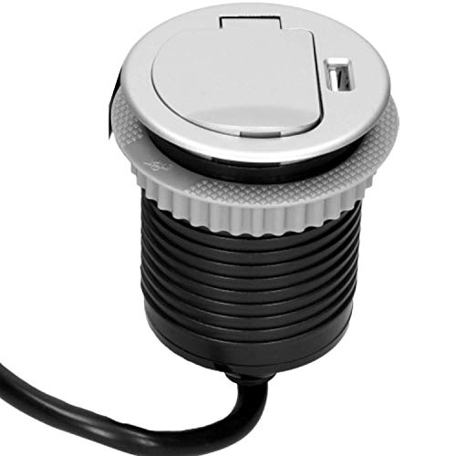 Orno AE-1373(GS) Regleta empotrada retráctil, 1 compartimento + 1 USB de 3680...