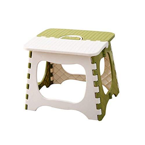 Falten Schritt Stuhl Faltbare Plastik-tragbare Kleine Hocker Stuhlbank Bank Für Kinder Erwachsene Vor Kindern Badezimmer-stühle GREEN L - Schwarz Klassischer Barhocker