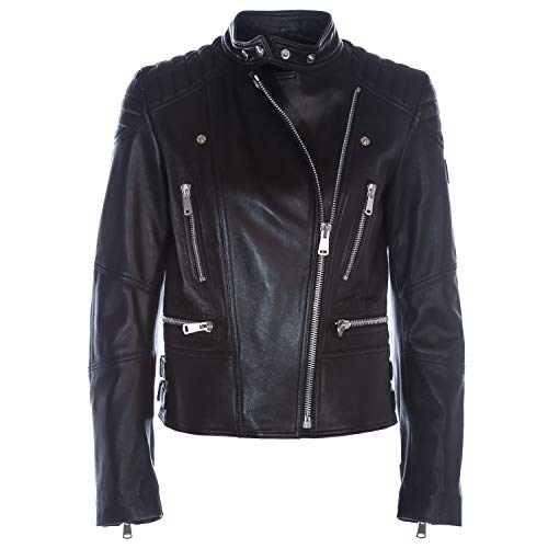 Belstaff Sidney Ladies Leather Jacket in Black