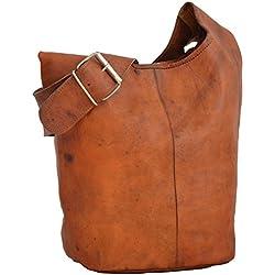 """Handtasche Leder Gusti nature """"Josephine"""" Umhängetasche Shopper Ledertasche Damen Vintage Look Naturleder Braun"""