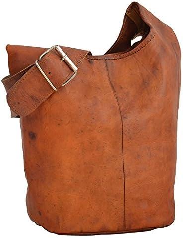 """Gusti Leder nature """"Josephine"""" Handtasche Ledertasche 30 x 22 x 16 cm Shopper Shoppingtasche Schultertasche Umhängetasche Braun M11"""