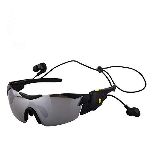 KTZLL Bluetooth Smart Sportbrillen Männer und Frauen Outdoor-Multifunktions-Sonnenbrille Fahrrad-Schutzbrille, Silver