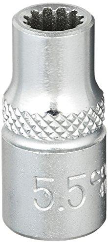 CAROLUS 4180.055 Steckschlüsseleinsatz 1/4″ Spline 5,5 mm