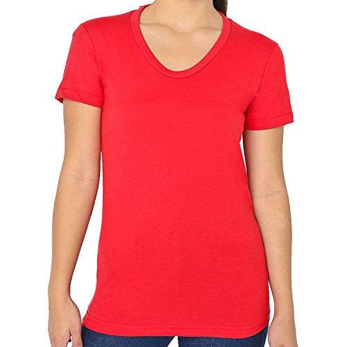 American Apparel - T-shirt - Femme red