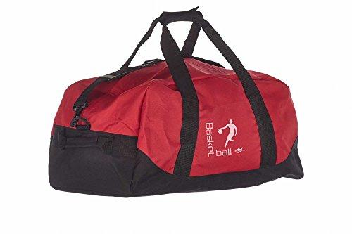 Kindertasche NT5688 rot/schwarz Basketball