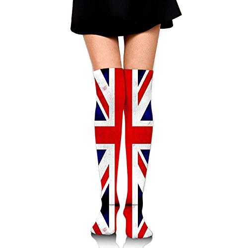 Nicegift Unisex Union Jack British Flag UK Novelty Sport Stocking Socks Athletic Calf High Sock 19.7 inch