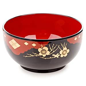 Black Lacquer Japanese Noodle Bowl by The Japanese Shop