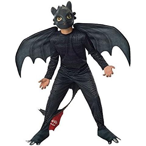 Senza denti - Night Fury - Come Train Your Dragon 2 - bambini Costume - Medium - 132 centimetri