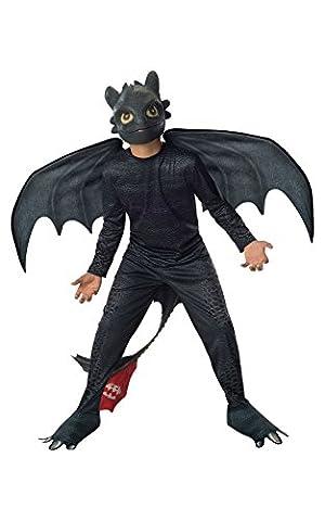 Toothless - Nuit Fury - Comment dresser votre dragon 2 - enfants Costume de déguisement - Moyen - 132cm