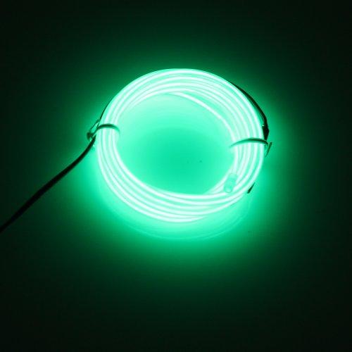 LED EL Kabel Neon, Leuchtet Tron Electroluminescent Beleuchtung Licht Mit Batterie Box, Weihnachten, Nacht Party,Neujahr Rave, Haus Hochzeit Eingenschaft (El Draht Kostüm Tron)