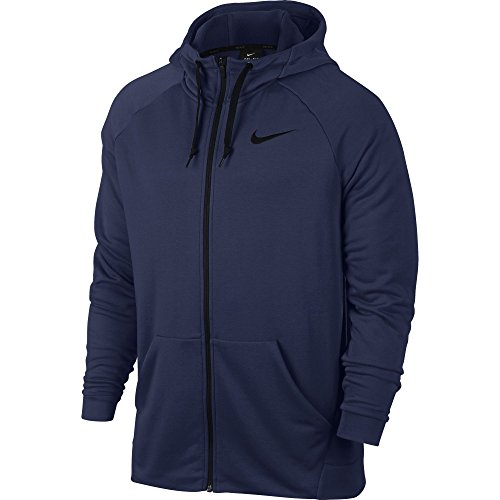 Nike Herren Dry Fleece Kapuzenjacke, Binary Blue/Black, M