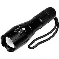 BINWO BBE1-01 A100 Taktische Hochleistung - Superhelle LED Handgerät Tragbare Wasserdichte Taschenlampe im Freien mit Einstellbarem Fokus und 5 Leuchtungsmodi, 1 Stück