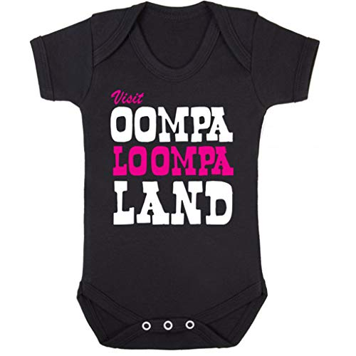 Cloud City 7 Charlie and The Chocolate Factory Oompa Loompa Land Baby Grow Short - Baby Oompa Loompa Kostüm
