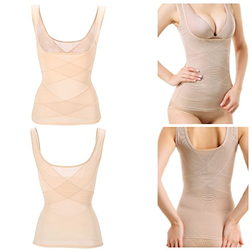 Damen Shapewear Figurformendes Weste Flexible Breathable Unterbrust Corsage Taillenmieder(L)