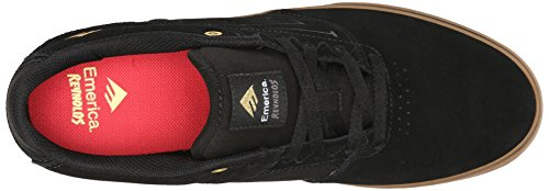 Emerica The Reynolds Low Vulc, Chaussures de skateboard homme Black - Black/Gum
