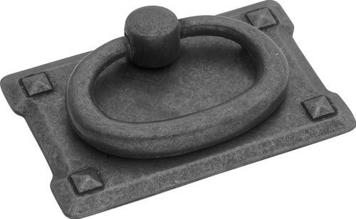 Bma Black Mist (Hickory Hardware PA0711-BMA Old Mission Ring Cabinet Pull, 1.125-Inch, Black Mist Antique by Hickory Hardware)