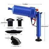 WC-Plunger, Air Power Drain Blaster Gun Sink Ablasskolben Für WC/Badewanne / Waschbecken/Küche Verstopft Rohr