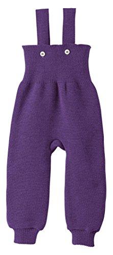 Disana 33113XX - Strick-Trägerhose Wolle pflaume, Size / Größe:74/80 (6-12 Monate)