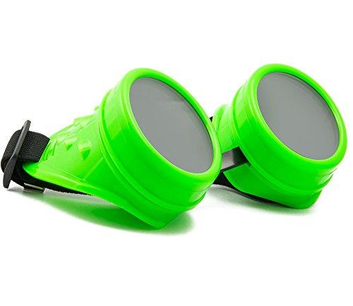 WELDING CYBER GOGGLES Schutzbrille Schweißen Goth Cosplay STEAMPUNK ANTIQUE VICTORIAN MFAZ Morefaz Ltd (Green)