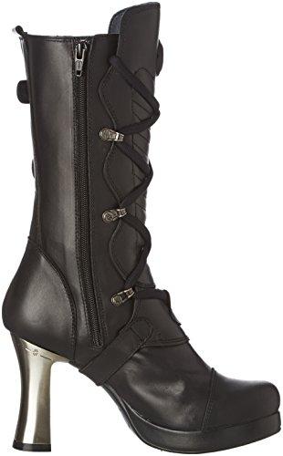 New Rock Damen M 5815 S10 Stiefel & Stiefeletten Schwarz - Schwarz (Black)